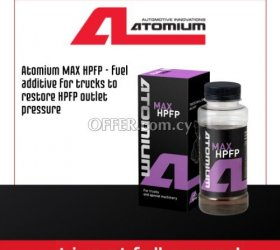 Atomium MAX HPFP - fuel additive for trucks to restore HPFP outlet pressure