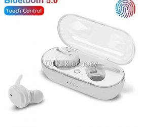 TWS Y30 Wireless Earbuds White - Touch & Waterproof