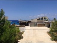 Amazing seafront modern and detached five bedroom villa for sale in Pomos area of Paphos