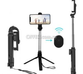 Tripod Bluetooth Monopod Selfie Stick Holder Android And IOS