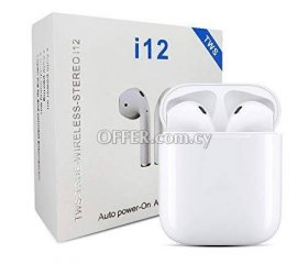 TWS i12 Wireless Earpods + Touch